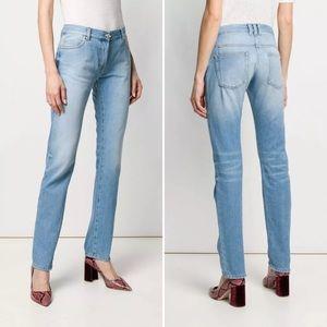 Balmain Paris Designer Mid-rise Slim Leg Jeans